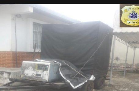 Polícia apreende paredão no condomínio Paraíso das Águas em Paulo Afonso