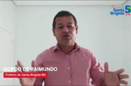 Prefeito Gordo de Raimundo parabeniza Santa Brígida pelos de seus 58 anos de Emancipação Política