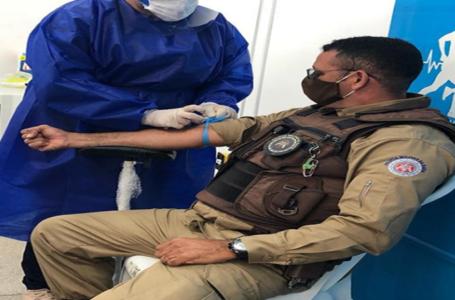 Policiais militares do 20º BPM realizam testes de COVID para proteger todos nesse momento de pandmeia