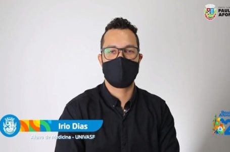 Írio Dias, pauloafonsino aprovado em Medicina na UNIVASF, mérito conquistado na escola pública