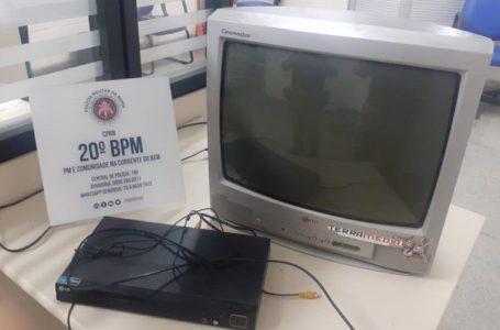 Dono de TV e DVD é recolhido à DT com sua aparelhagem por perturbação do sossego na Prainha