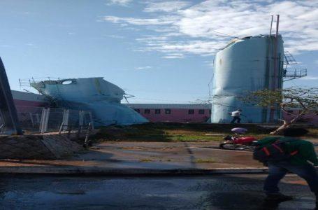 Prefeitura de Paulo Afonso esclarece os fatos sobre a caixa d´água da CEASA que caiu nesta segunda, 26