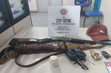 Polícia apreende arma de fogo na Caiçara II em Paulo Afonso