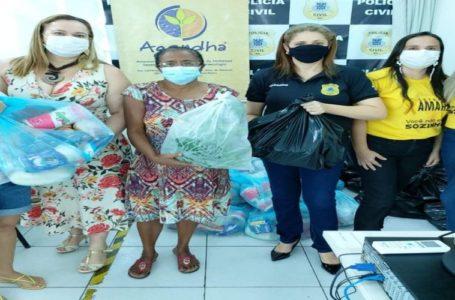 DEAM distribui cestas básicas para mulheres em situação de vulnerabilidade social em Paulo Afonso