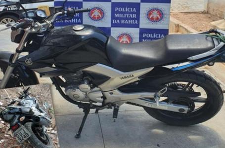 Polícia Militar recupera moto no caminho do povoado Juá em Paulo Afonso